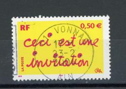 """FRANCE - CECI EST UNE INVITATION - N° Yvert 3636 Obli. RONDE DE """"VONNAS 2004"""" - Oblitérés"""