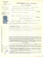 ENGAGEMENT DE LOCATION 1963 IMMEUBLE A BOULOGNE RUE DE L'EST DOUBLE PAGE AVEC TIMBRES FISCAUX - Francia