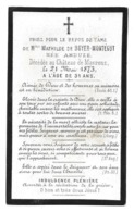 MATHILDE ANDUZE EPOUSE DE BOYER MONTEGUT AVIS DE DECES 1842 1873 CHATEAU DE MAURENS - Décès