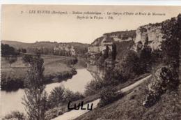 DEPT 24 : édit. Bloc Frères N° 7 : Les Eyzies Les Gorges D Enfer Et Route De Manaurie , Bords De La Vézère - Andere Gemeenten