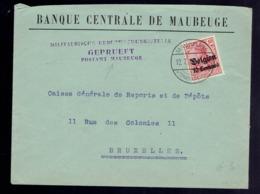 Guerre 14-18 COB OC 3 / Lsc Maubeuge  Vers Bruxelles. Censure Maubeuge - WW I