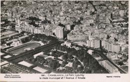Vue Aerienne Arerial View Stade Municipal Et Avenue D' Amade . Stadium . Flandrin Envoi Poligny Nemours - Casablanca