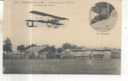 606. Etampes Aviation, L'Aviateur Albert Touvet Sur Biplan M. Farman - Etampes