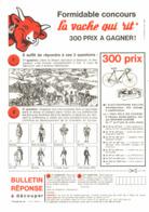 """PUB JEUX-CONCOURS   La  """" VACHE QUI RIT  """" 1964  ( 11 ) - Autres"""