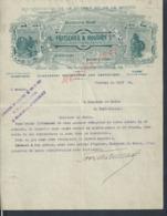 LETTRE COMMERCIALE ILLUSTRÉE A FRITSCHER & HOUDRY FOURNISSEURS DE LA GUERRE & MARINE MOTEURS NOËL À PROVINS : - 1900 – 1949