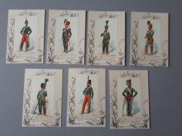 Cartes Reproductions De Dessin : Les Chasseurs à Cheval Second Empire  & - Documents