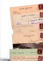 FRANCE...TIMBRE TYPE SEMEUSE CAMEE....15c BRUN LILAS........LOT DE 96 SUR CPA.......VOIR SCAN......LOT 6 - 1906-38 Säerin, Untergrund Glatt