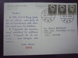 DANEMARK Groeland - 1958  Carte Postale - Publicité Ionyl - 2 Scans - Dinamarca