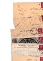 FRANCE...TIMBRE TYPE SEMEUSE CAMEE...20c LILAS ROSE...........LOT DE 300 SUR CPA.......VOIR SCAN......LOT 5 - 1906-38 Säerin, Untergrund Glatt