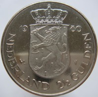 Netherlands 2 1/2 Gulden 1980 XF / UNC - [ 3] 1815-… : Kingdom Of The Netherlands