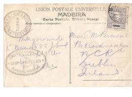 (P82) - FUNCHAL - AFINSA N°17 - BILHETE POSTAL => IRELAND 1898 ??? - Funchal