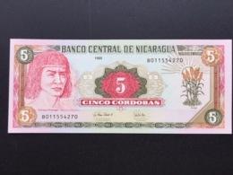 NICARAGUA P180 5 CORDOBAS 1995 UNC - Nicaragua