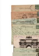 TIMBRE TYPE SEMEUSE LIGNEE....15c VERT GRIS........VOIR DETAIL...LOT DE 96 SUR CPA.....VOIR SCAN......LOT 2 - 1903-60 Säerin, Untergrund Schraffiert