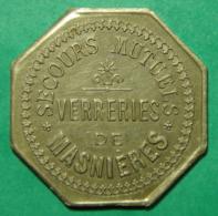 59 - Masnières - Verreries - Secours Mutuels - 10c - Monetari / Di Necessità