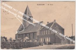 ELSEGHEM 1911 (WORTEGEM PETEGEM) ELSEGEM DE KERK / MOOIE ANIMATIE (Scheur Hersteld, Déchirure Réparée) - Wortegem-Petegem