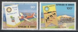 Djibouti - YT 515-516 ** MNH - 1980 - Rotary - Lions Club - Djibouti (1977-...)