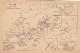Suisse - Carte Des Stations D'internés - Suisse