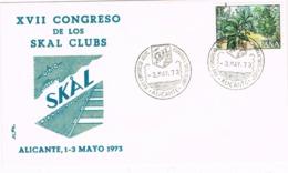 34744. Carta ALICANTE 1973. Congreso SKAL Clubss. Congreso SKAL Club, Excursionismo - 1931-Hoy: 2ª República - ... Juan Carlos I
