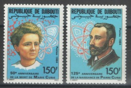 Djibouti - YT 594-595 ** MNH - 1984 - Pierre Et Marie Curie - Yibuti (1977-...)