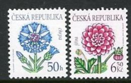 CZECH REPUBLIC 2003 Flower Definitives 50 H., 6.50 Kc MNH / **.  Michel 377-78 - Tschechische Republik
