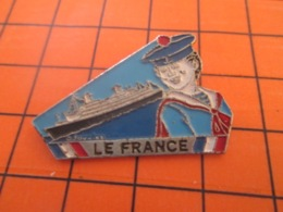 1119 Pin's Pins : BEAU ET RARE : Thème  BATEAUX / PAQUEBOT FRANCE MATELOT MOUSSE MARIN - Barcos