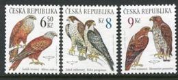 CZECH REPUBLIC 2003 Birds Of Prey MNH / **.  Michel 374-76 - Czech Republic