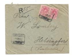 (C15) ESPAGNE - LETTRE - CARTA CERTIFICADA ESTAFETA DE CAMBIO VALENCIA => FINLANDIA 1922 - 1889-1931 Royaume: Alphonse XIII