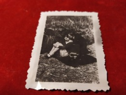 WWII FOTO Sexy Frau 2wk Photo Mit Grammophon - 1939-45