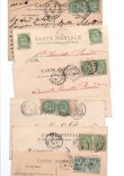 TIMBRE TYPE BLANC....2 FOIS 5c......LOT DE 48 SUR CPA.....VOIR SCAN......LOT 20 - 1900-29 Blanc