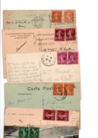 TIMBRE TYPE SEMEUSE CAMEE...2 IDENTIQUES.....LOT DE 48 SUR CPA.....VOIR SCAN......LOT 12 - 1906-38 Säerin, Untergrund Glatt