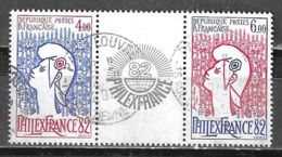 Philexfrance 1982 Timbres Du Feuillet 2216 / 2217 Oblitérés - Frankrijk