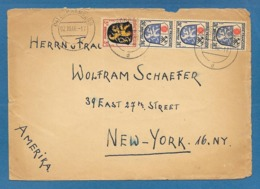 1946 ZONE FRANCAISE SCHRAMBERG TO U.S.A. - Franse Zone