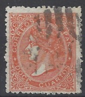 España U 0089a (o) Isabel II. 1867. Foto Exacta - Usati