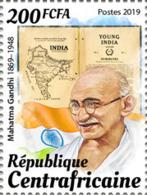 Z08 CA190814a CENTRAL AFRICA 2019 Mahatma Gandhi MNH ** Postfrisch - Repubblica Centroafricana