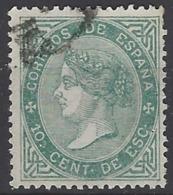 España U 0091 (o) Isabel II. 1867. Foto Exacta - 1850-68 Reino: Isabel II