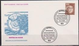 BRD FDC 1975 Nr.854 Technick  Braunkohlenförderbagger (d 4211 ) - BRD