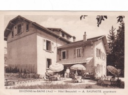 DIVONNE  LES  BAINS ,,,, HOTEL  BEAUSOLEIL    A.  RAUFASTE  PROPRITAIRE,,,,MODELE DIFFERENT,,,TBE  1950 - Divonne Les Bains