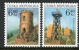 CZECH REPUBLIC 2003 Watchtowers MNH / **.  Michel 359-60 - Czech Republic