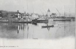 OUCHY → Le Quai / Der Hafen Mit Dampfschiff, Ca.1900 - VD Vaud