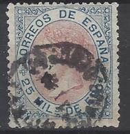 España U 0095 (o) Isabel II. 1867. Foto Exacta. - 1850-68 Reino: Isabel II