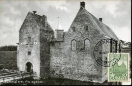 49201 Danmar, Maximum 1954 The Castle Of Spottrup,  Chateau Schloss, Architecture - Cartoline Maximum