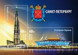 Russia 2019 Lakhta Center And Gazpromarena S/S MNH - 1992-.... Federatie