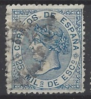 España U 0097 (o) Isabel II. 1868. Foto Exacta. - 1850-68 Reino: Isabel II