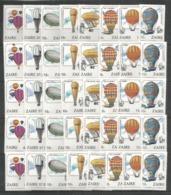5x ZAIRE - MNH - Transport - Balloons - Transports