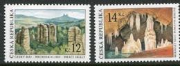 CZECH REPUBLIC 2003 Limestone Formations MNH / **.  Michel 355-56 - Czech Republic