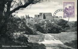 49202 Danmark, Maximum 1955 The Castle Ruins Of Borrholm, Architecture - Cartoline Maximum