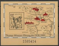 Allemagne - DDR - Bloc-Feuillet N° 96 Neuf ** - Religion - Thomas Muntzer (1489-1525) - Théologien - Blocks & Sheetlets