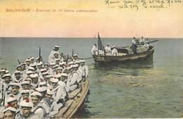 SALONIQUE - Exercice De Tir Contre Submersibles  1917 - Manovre