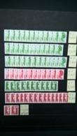 Lot De Timbres Liberté De Gandon A B C Vert C Rouge + Marianne Du Bicentenaire D Vert D Rouge . - 50% De La Faciale . - Collections