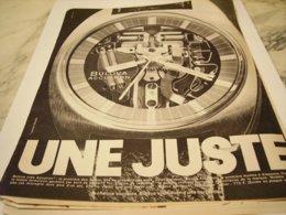ANCIENNE  PUBLICITE MONTRE BULOVA  UNE JUSTE 1969 - Bijoux & Horlogerie